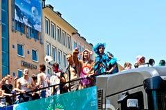 Люди празднуют день улицы Кристофера Стоковые Фотографии RF