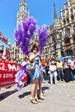 Люди празднуют день улицы Кристофера Стоковое Фото
