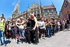 Люди празднуют Кристофер Стоковое Изображение RF
