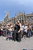 Люди празднуют Кристофер Стоковая Фотография