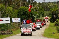 Люди празднуют приезжать Fuifui Moimoi на острове Vavau в Тонгу Стоковое Изображение