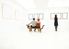 Люди предусматривая художественные произведения Стоковое Изображение RF