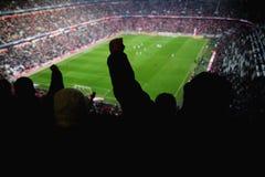 Люди приветственного восклицания Stadion Стоковая Фотография
