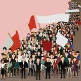 Люди пришли к встрече Бесплатная Иллюстрация