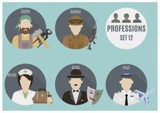Люди профессии Комплект 12 Стоковое Фото