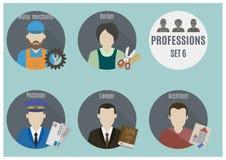 Люди профессии Комплект 6 Стоковая Фотография RF