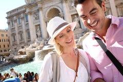 Люди путешествуя в Риме Стоковая Фотография RF