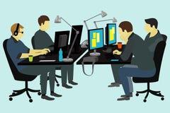 Люди работая на столе Стоковое Изображение RF