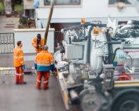 Люди работая на улице Стоковые Фото