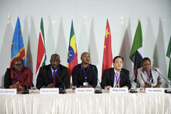 Люди разнообразия представляют партнерство международной конференции Стоковое Изображение