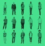 Люди разнообразного приятельства счастья людей жизнерадостные стоковое фото rf