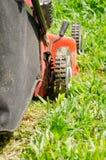 Люди резали траву Стоковые Изображения