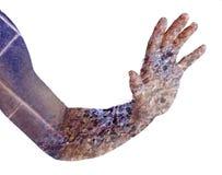Люди руки двойная экспозиция Стоковые Изображения