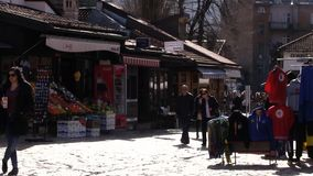 Люди Сараево 4K сток-видео