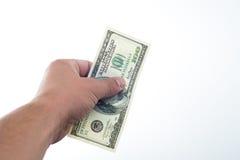 Люди сказали 10000 долларов в руке Стоковые Фото