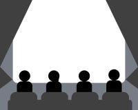 Люди смотря кино на зале кино Стоковое Изображение RF