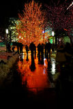 Люди Солт-Лейк-Сити квадрата виска светов рождества Стоковые Фотографии RF