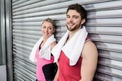Люди спортсмена представляя совместно Стоковые Фото