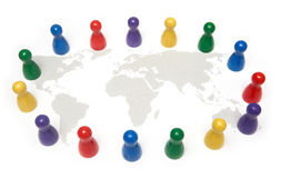Люди стоят совместно на мире мира Мы все прожитие на такой же планете Стоковое Изображение RF