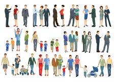 Люди стоя и идя Стоковая Фотография RF