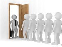 Люди стоя одно после других Стоковое Изображение RF