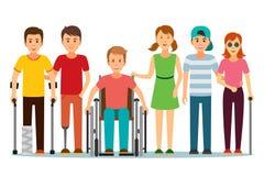 Люди с ограниченными возможностями и друг Стоковые Изображения RF