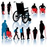 люди с ограниченными возможностями Стоковое Изображение