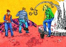 Люди с лопаткоулавливателем Стоковая Фотография RF