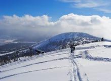 Люди с сноубордами Стоковые Фотографии RF