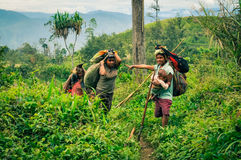 Люди с тяжелым грузом Стоковое Изображение RF