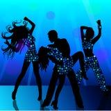Люди танцуя в ночном клубе иллюстрация вектора