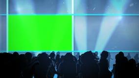 Люди танцуя и космосы chroma ключевые иллюстрация вектора
