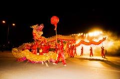 Люди танцуя дракон Стоковое Изображение RF
