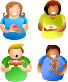 люди торта Стоковые Фото