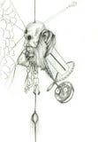 Люди философа думая и наблюдая иллюстрация вектора