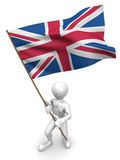 люди флага Британии большие Стоковое Изображение