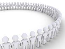 Люди формируют большой круг Стоковые Фотографии RF