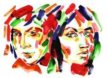 люди цвета Стоковые Фото