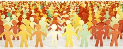 Люди цифров - концепция сети - перевод 3D Стоковое Фото