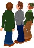 Люди шаржа стоя и смотря на что-то Стоковые Фотографии RF