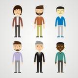 Люди - люди иллюстрация Стоковые Фото