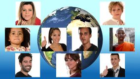 Люди для мира на земле сток-видео