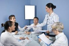 люди деловой встречи Стоковая Фотография