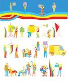 люди деятельности собрания различные Стоковое Фото