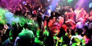 люди диско танцы Стоковая Фотография