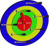 Люди дротика/target/a на цели Стоковые Изображения