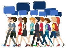 Люди Businessminded с пустыми callouts Стоковая Фотография RF