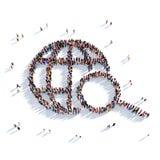 Люди 3d биноклей Стоковые Фотографии RF
