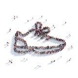 Люди 3d ботинок тапок Стоковые Фото