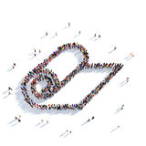 Люди 3d бумаги крена Стоковое Фото